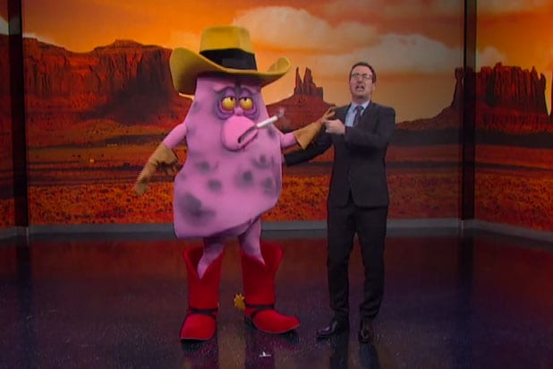 john oliver smokes the tobacco industry with diseasedlung