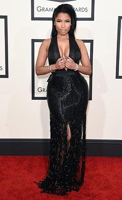 Nicki Minaj at the Grammys red carpet