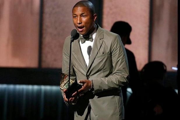 Pharrell at the Grammys