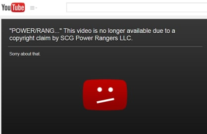 power rangers youtube