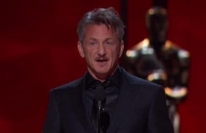 Sean Penn Presents at the Oscars