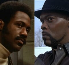 Richard Roundtree (1971) and Samuel L. Jackson (2000) both as 'Shaft'