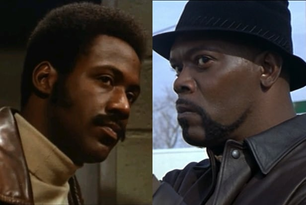 Richard Roundtree (1971) and Samuel L. Jackson (2000) both as 'Shaft'