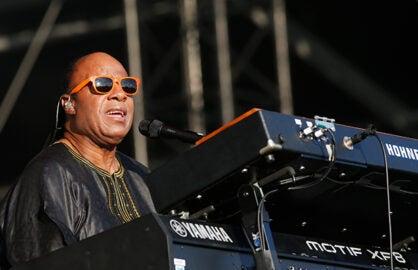 Stevie Wonder, performing