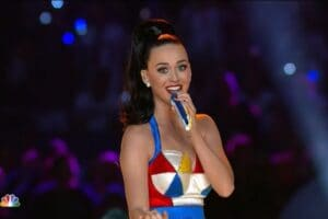 Katy Perry performs at Super Bowl XLIX Halftime Show