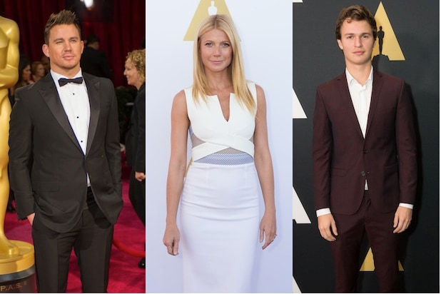 Channing Tatum, Gwyneth Paltrow and Ansel Elgort