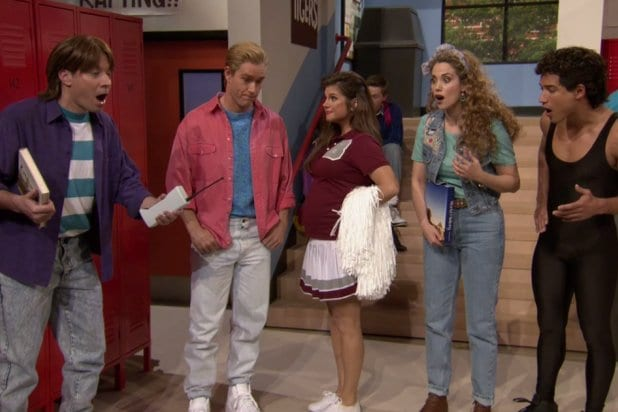"""Saved by the Bell"" reunion on ""The Tonight Show Starring Jimmy Fallon"""