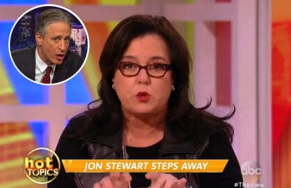 Rosie O'Donnell talks Jon Stewart departure on The View (ABC)