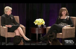 Tina Brown talks to Amy Pascal for Women in the World