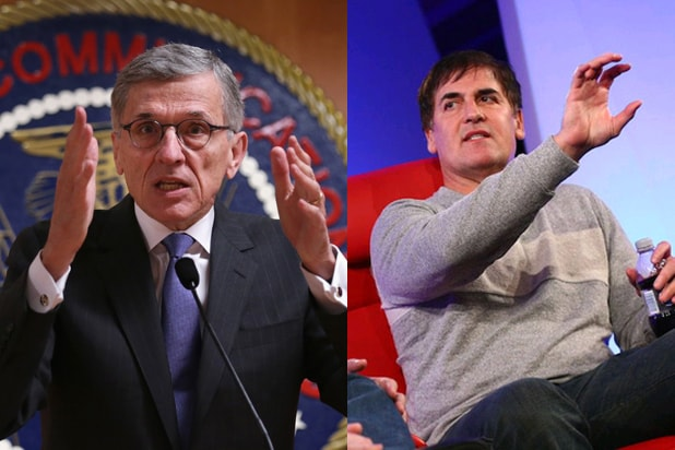 Tom Wheeler, Mark Cuban (Alex Wong/Getty; Code/Media)