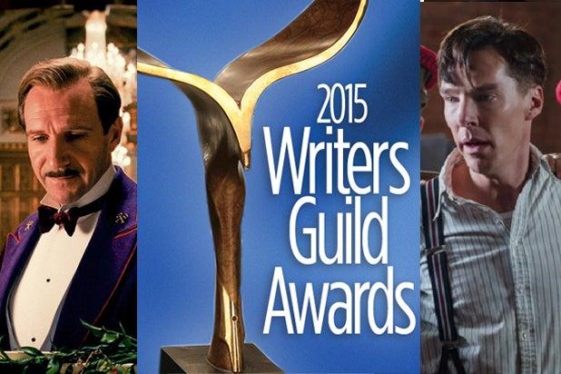 Grand Budapest Hotel and Imitation Game - WGA Awards 2015