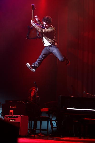 2010 - Nick Jonas & The Administration In Concert - Los Angeles (Rob Hoffman/JBE/Getty Images)