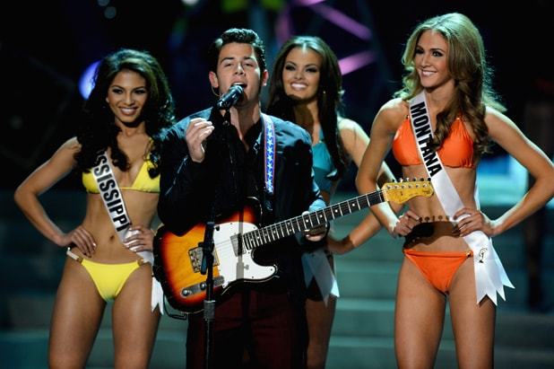2013 - Nick Jonas performs Miss USA Competition in Las Vegas (Ethan Miller/Getty Images)