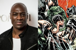 Adewale Akinnuoye-Agbaje (Ian Gavan/Getty Images); Killer Croc (DC Comics)