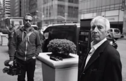"""The Jinx"" director Andrew Jarecki (left) and Robert Durst (HBO)"