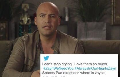 Billy zane thinks heartbroken zayn malik tweets are for him in