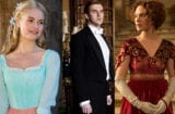 Lily James, Dan Stevens and Jessica Brown Findlay