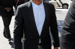 Pharrell Williams Arrives at Court/Getty Images