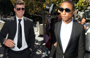 Robin Thicke and Pharrell Williams in Court Thursday