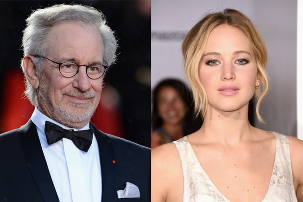 Steven Spielberg, Jennifer Lawrence (Getty)