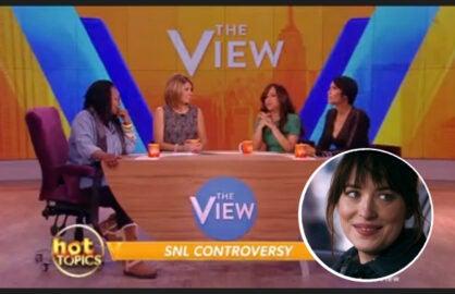 ABC's The View panel discuss Dakota Johnson SNL skit (ABC/NBC)