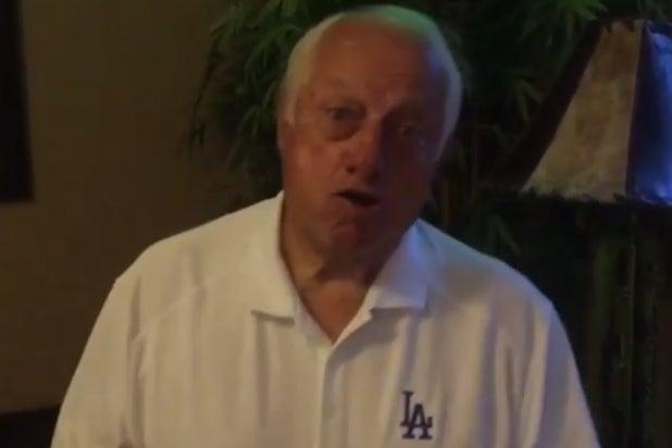 dodgers legend tommy lasorda sings dances  turn    video