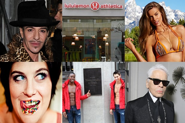 John Galliano, Lululemon, Robyn Lawley, Karl Lagerfeld, Abercrombie & Fitch, American Apparel