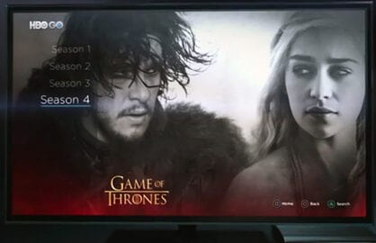 HBO Go App Available on PS4