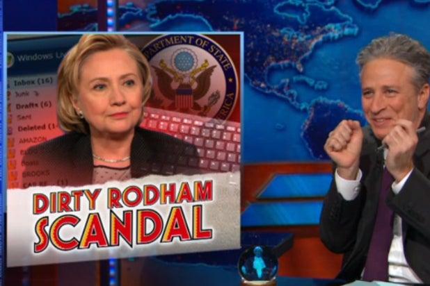 Hillary Clinton Jon Stewart