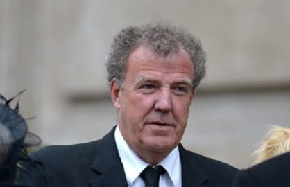 LONDON, ENGLAND - APRIL 17: TV presenter Jeremy Clarkson leaves the Ceremonial funeral of former British Prime Minister Baroness Thatcher at St Paul's Cathedral on April 17, 2013 in London, England. Dignitaries from around the world today join Queen Elizabeth II and Prince Philip, Duke of Edinburgh as the United Kingdom pays tribute to former Prime Minister Baroness Thatcher during a Ceremonial funeral with military honours at St Paul's Cathedral. Lady Thatcher, who died last week, was the first British female Prime Minister and served from 1979 to 1990. (Photo by Jeff J Mitchell/Getty Images)