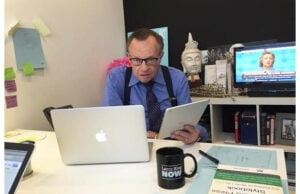 "Larry King in his office (""Larry King Now""/Ora.tv)"
