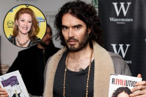 Russell Brand and (inset) Ondi Timoner (Getty Images; inset: Michael Buckner/Getty Images for SXSW)