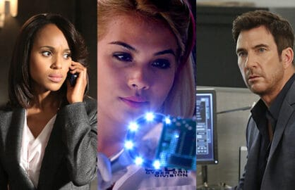 Kerry Washington, Scandal; Hayley Kiyoko, CSI: Cyber; Dylan McDermott, Stalker (ABC/CBS)