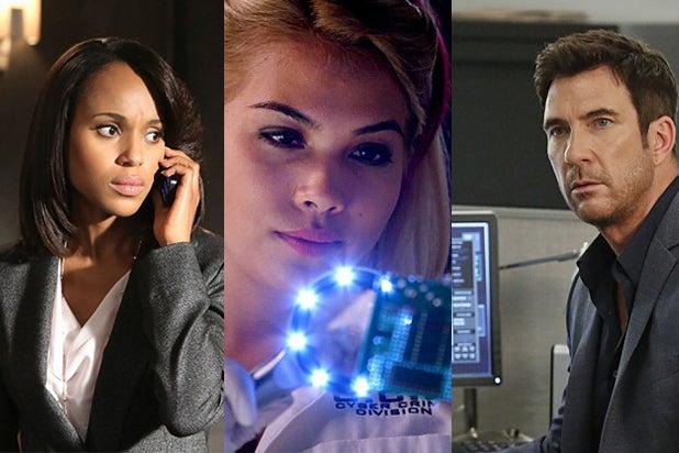 Kerry Washington, Scandal; Hayley Kiyoko, CSI: Cyber; Dylan McDermott, Stalker (ABC/CBS)