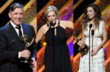 "Craig Ferguson, Maura West, Amelia Heinle at ""42nd Annual Daytime Emmy Awards"""
