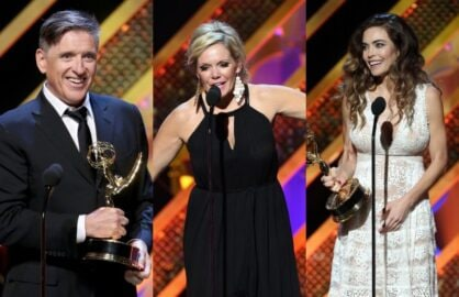 "Craig Ferguson, Maura West, Amelia Heinle at ""42nd Annual Daytime Emmy Awards"""