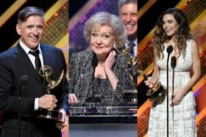 "Craig Ferguson, Betty White, Amelia Heinle at ""42nd Annual Daytime Emmy Awards"""