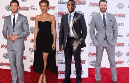 Chris Hemsworth, Scarlett Johansson, Anthony Mackie, Chris Evans