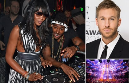 "Naomi Campbell with DJ Ruckus in the VIP ""Heart of Omnia"" club-within-a-club on Friday night. (David Becker/Wireimage; Getty Images; Al Powers)"