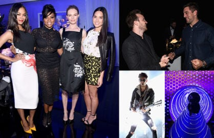 Zoe Saldana, Taraji P. Henson, Kate Bosworth, Olivia Munn, Aaron Paul, Aaron Rogers, Chromeo, and a few hundred invitees got hands on with the new Samsung GalaxyS6 and S6 Edge at a dinner and party in West Hollywood on Thursday night. (Getty Images; Mikey Glazer)