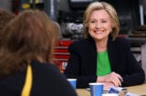 MONTICELLO, IA - APRIL 14: Democratic presidential hopeful and former Secretary of State Hillary Clinton (2nd R) speaks during a roundtable discussion with students and educators at the Kirkwood Community College Jones County Regional Center on April 14, 2015 in Monticello, Iowa. Hillary Clinton kicked off her second bid for President of the United States two days after making the announcement on social media. (Photo by Justin Sullivan/Getty Images)