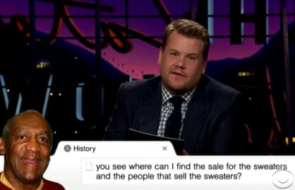James Corden Bill Cosby