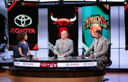 Sage Steele, Doug Collins, Jalen Rose/ESPN