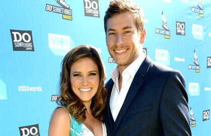 HOLLYWOOD, CA - JULY 31: Host Sophia Bush (L) and Google executive Dan Fredinburg arrive at the DoSomething.org and VH1's 2013 Do Something Awards at Avalon on July 31, 2013 in Hollywood, California. (Photo by Jason Merritt/Getty Images)