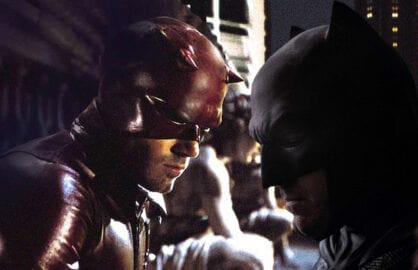 Ben Affleck as Daredevil and as Batman