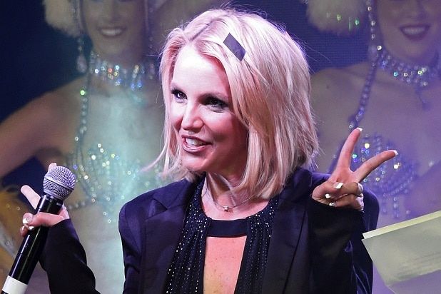 "LAS VEGAS, NV - NOVEMBER 05: Singer Britney Spears attends a ""Britney Day"" event at The LINQ Promenade held to celebrate her Las Vegas residency show ""Britney: Piece of Me"" on November 5, 2014 in Las Vegas, Nevada. (Photo by Ethan Miller/Getty Images)"