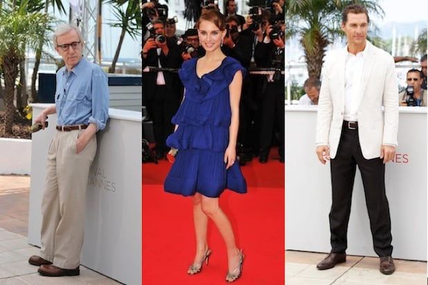 Woody Allen, Natalie Portman and Matthew McConaughey at Cannes