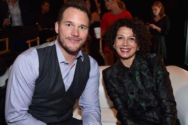 CinemaCon Universal presentation: Actor Chris Pratt and Universal Pictures Chairman Donna Langley (Alberto E. Rodriguez/Getty Images for CinemaCon)