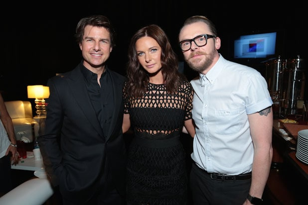 CinemaCon 2015: Tom Cruise, Rebecca Ferguson and Simon Pegg (Alex J. Berliner/ABImages for Paramount Pictures)