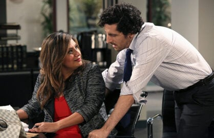 "Cristela Alonzo and Adam Shapiro in ""Cristela"" (ABC)"